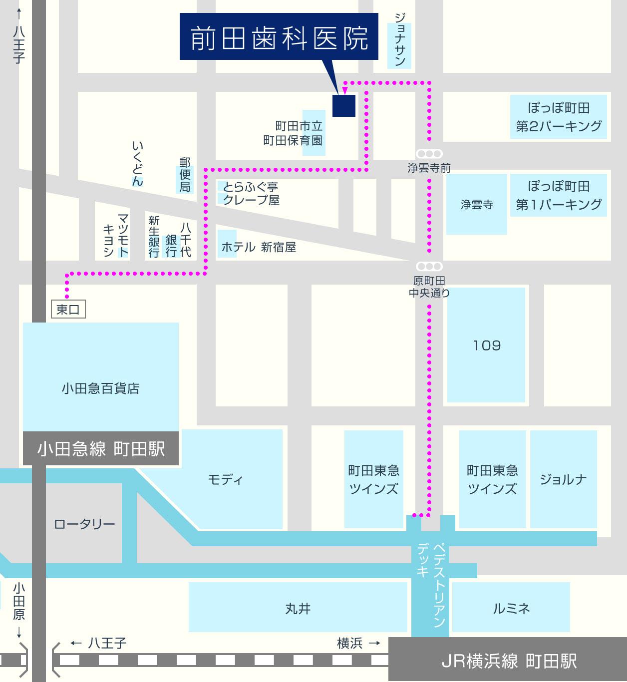 前田歯科医院の地図